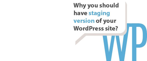 why staging version WordPress