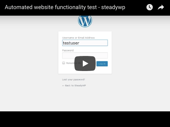 Automated website functionality test youtube
