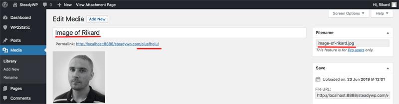 Automatically rename media by title WordPress plugin